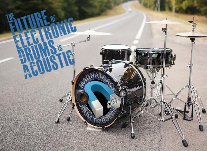 Converting acoustic drums to electronic